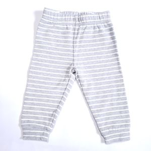 3-6M Striped Leggings Grey and White